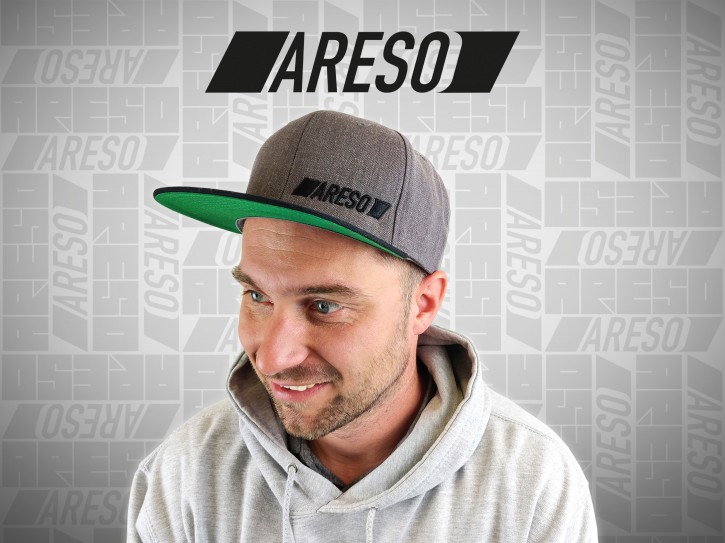 "ARESO Snapback ""GRAU / GRÜN"""